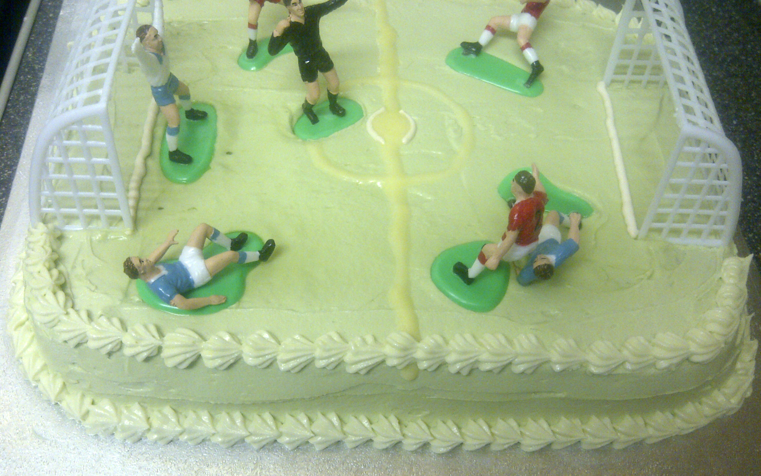 Football Pitch Cake Bunny Kitchen