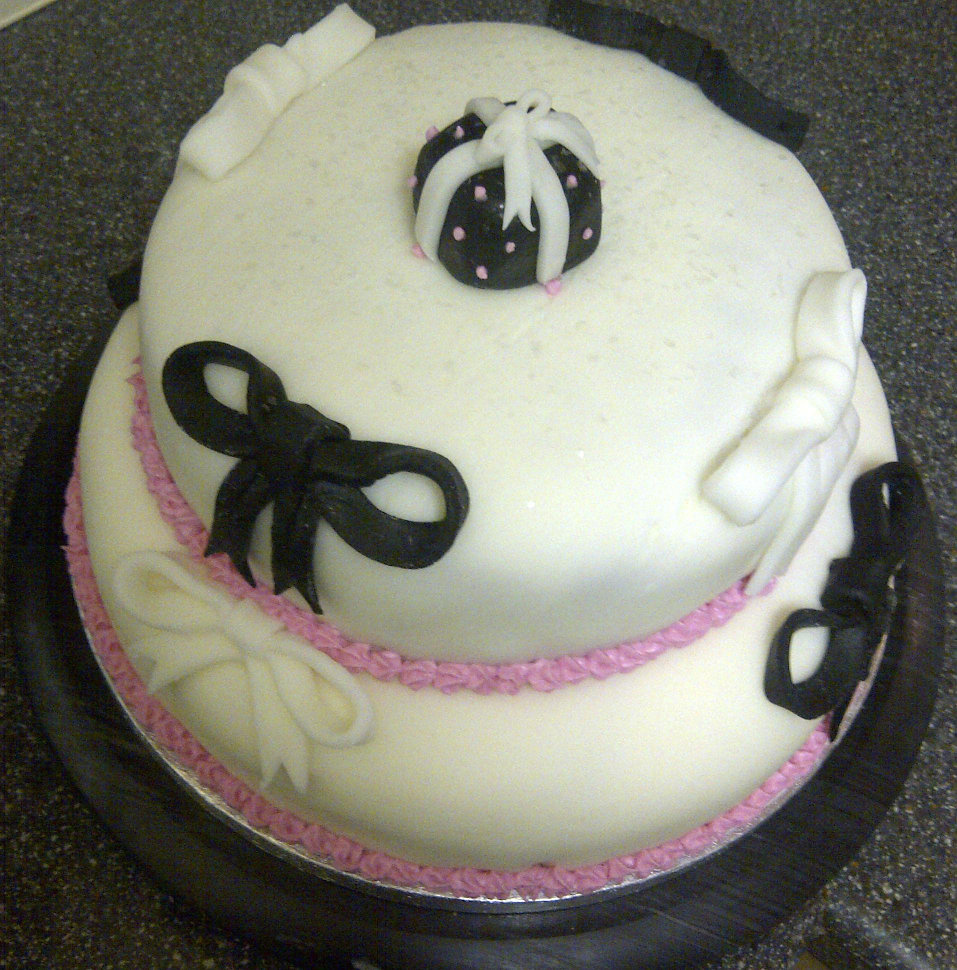 Bow Birthday Cake Bunny Kitchen