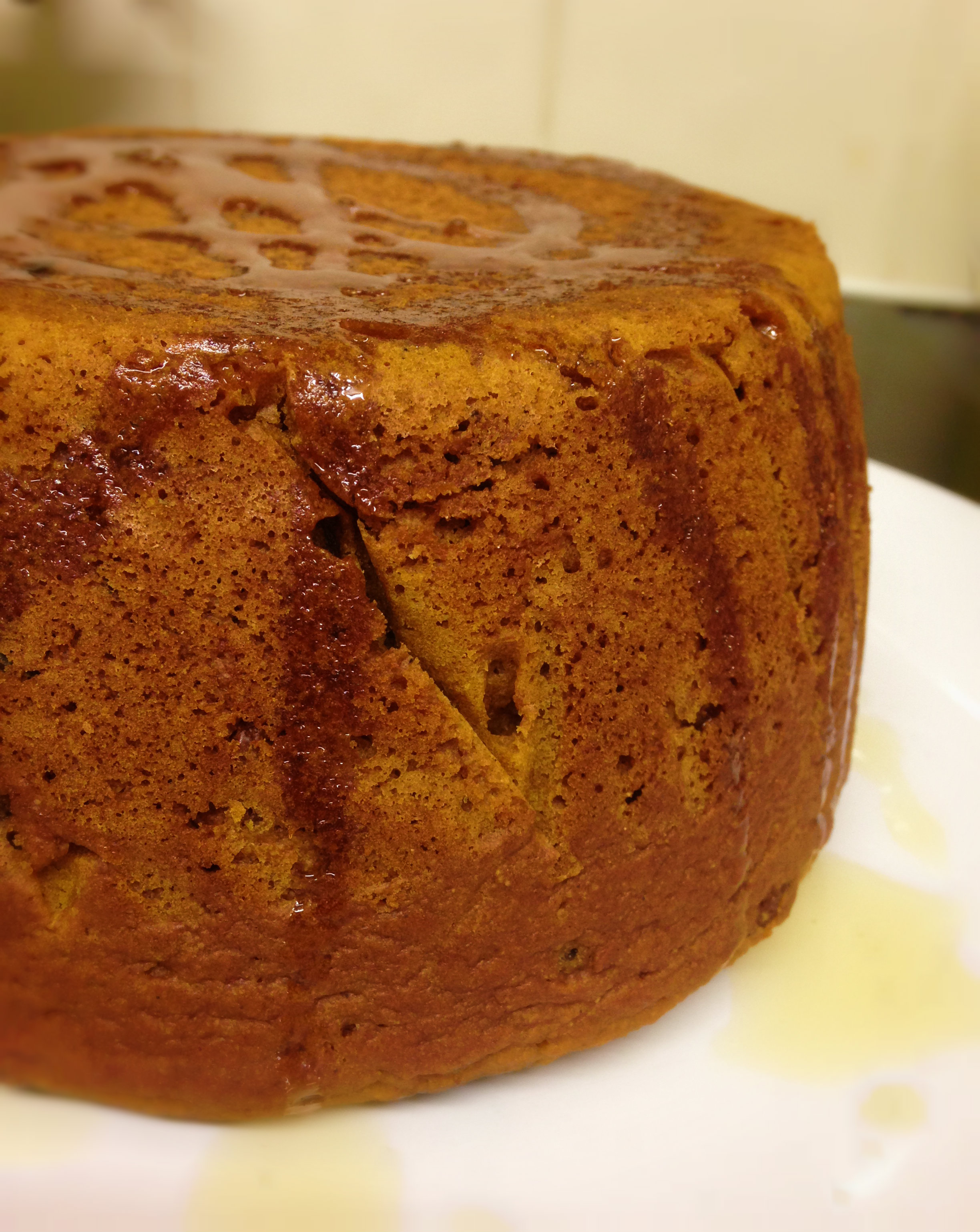 Steamed Pumpkin and Raisin Pudding | Bunny Kitchen