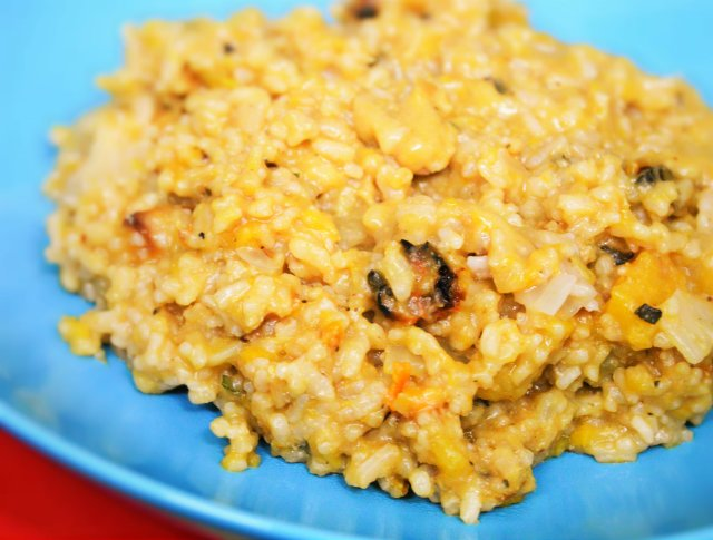 Easy Butternut and Sage Risotto #vegan #pumpkin #squash #butternutsquash #rice #risotto