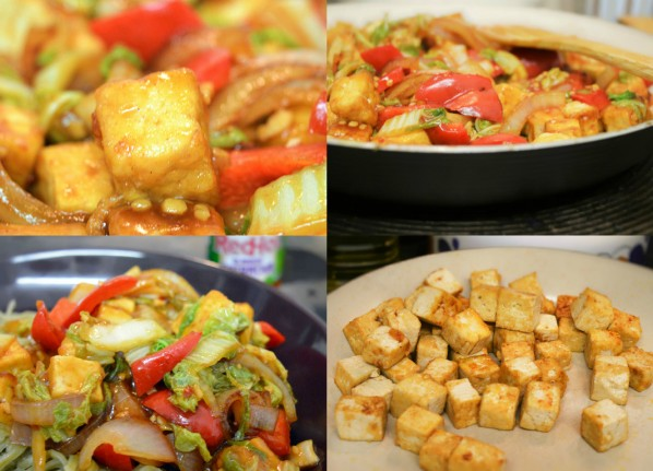 Chilli Tofu #vegan #tofu #vegetarian #stirfry