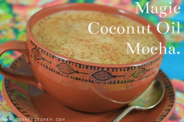 Coconut Oil Mocha Coffee! #dairyfree #vegan #coffee #cocoa #chocolate #coconutoil