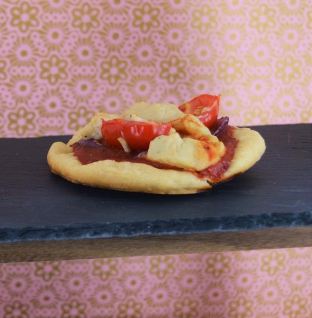 Mini Yeast Free Pizzas with two #vegan cheeses! #yeastfree #pizza #dairyfree #vegancheese
