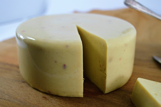 Spicy Smoked Garlic Cheese Block #vegan