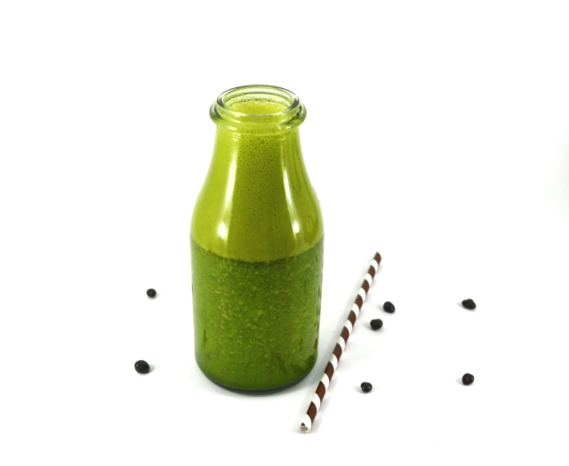 Mint Choc Chip Super Green Smoothie #vegan #healthy #giveaway