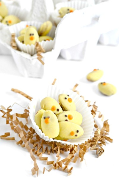 Easter Almond Baby Chicks #vegan