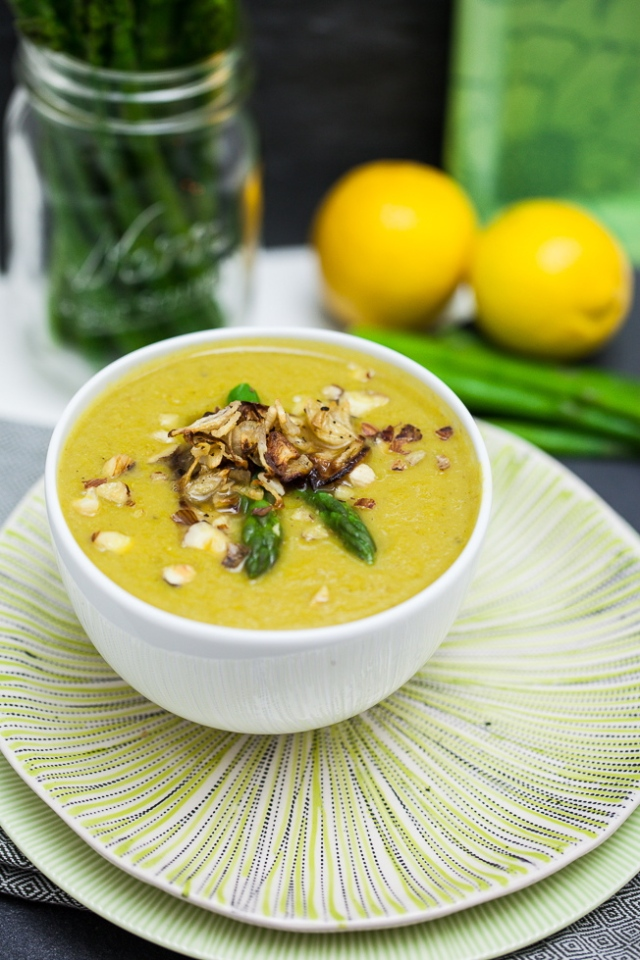 Cream of Asparagus Soup #easter #spring #vegan
