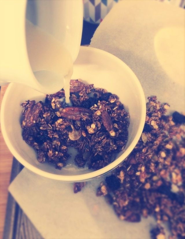 Jaffa Cake Granola for #FairtradeFortnight #vegan