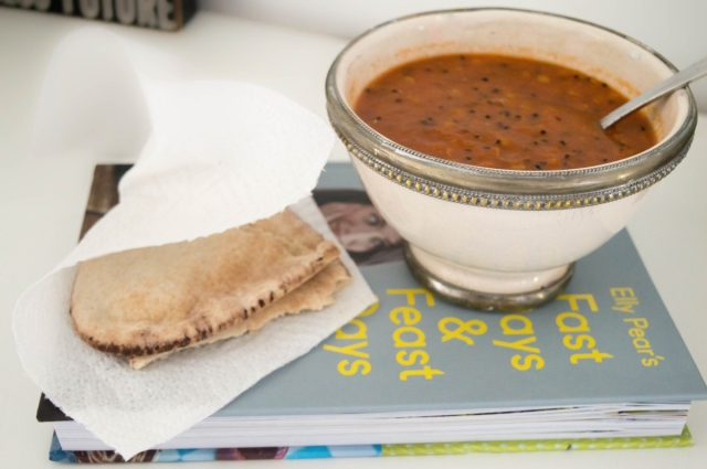 Tomato, red lentil and nigella soup #vegan #52diet