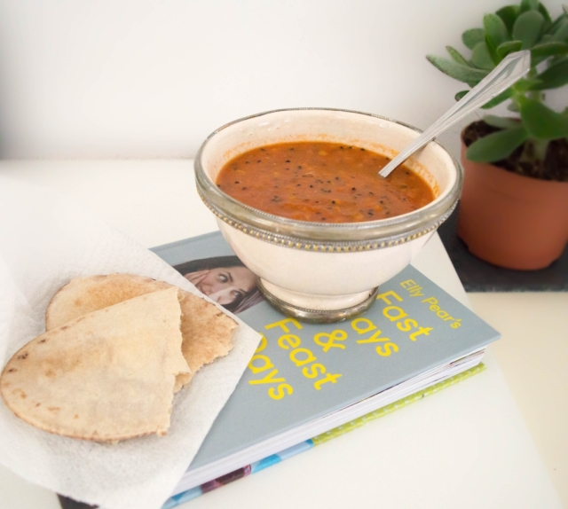 Tomato, red lentil and nigella soup #vegan #52diet