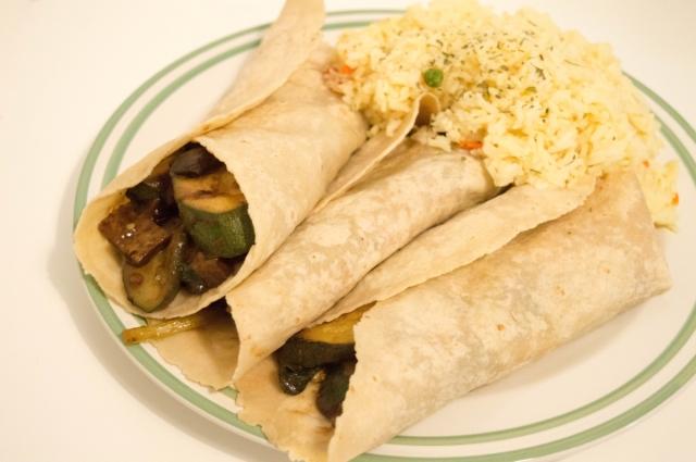 Seitan & Wild Garlic Fajitas #vegan