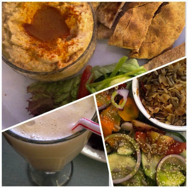More delicious hummus and milkshake at Fortify!