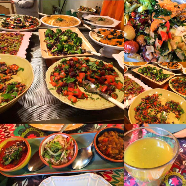 A colourful mezze buffet at House of Wonders