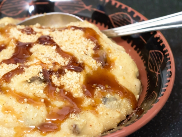 Frangollo - Spiced Almond & Semolina Pudding #vegan #glutenfree